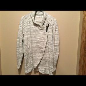 Marled knit jacket